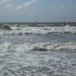 Surfer auf der Nordsee vor Norderney